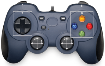 Get the simulation value of a VEX gamepad using Logitech