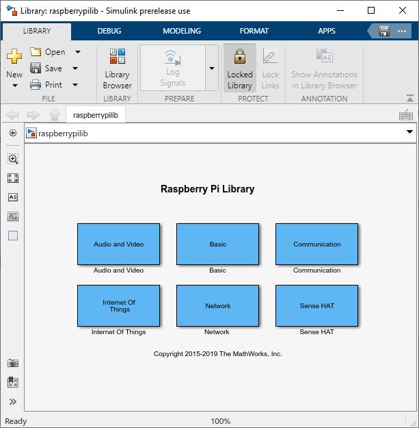 Open Block Library for Raspberry Pi Hardware - MATLAB & Simulink