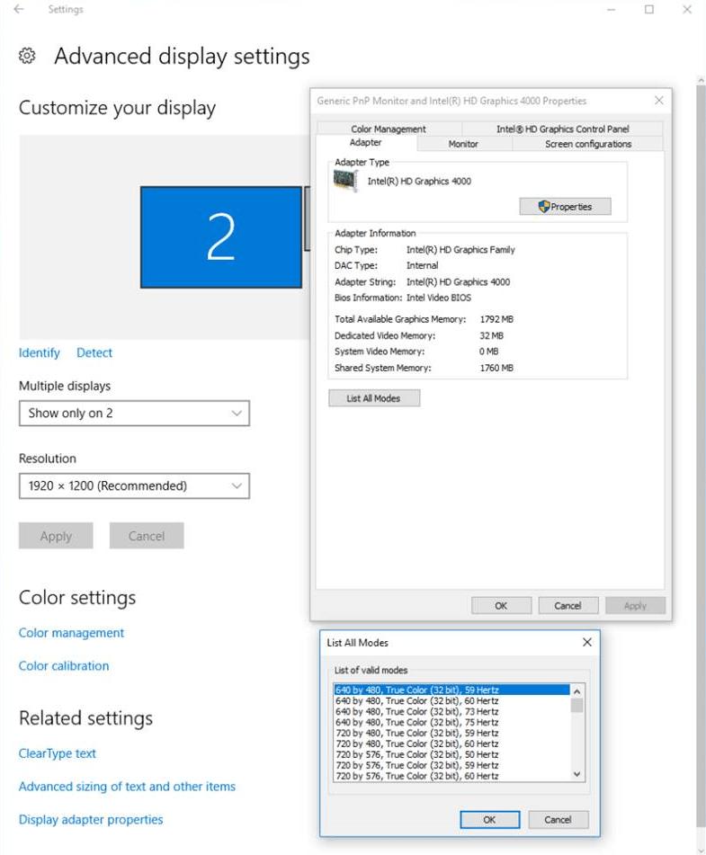 Configure Display for VGA Playback - MATLAB & Simulink