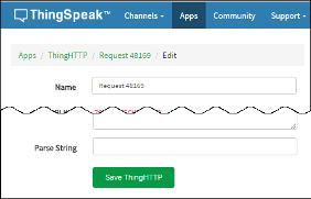 ThingHTTP App - MATLAB & Simulink