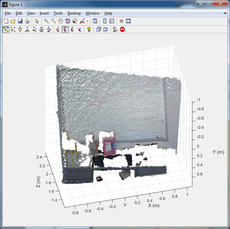 Point cloud from Kinect for Windows - MATLAB pcfromkinect