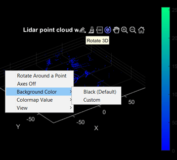 Plot 3-D point cloud - MATLAB pcshow