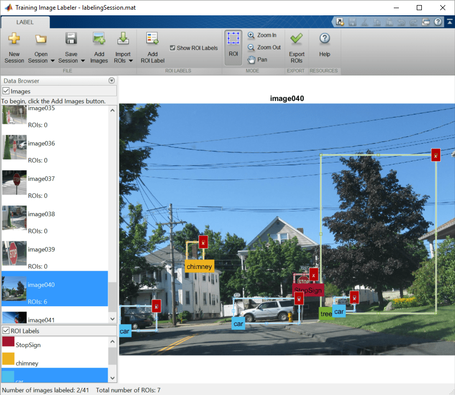 Label images for training a classifier - MATLAB