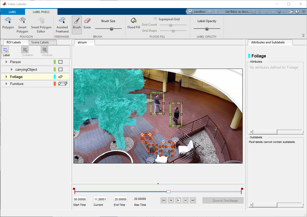 Label video for computer vision applications - MATLAB