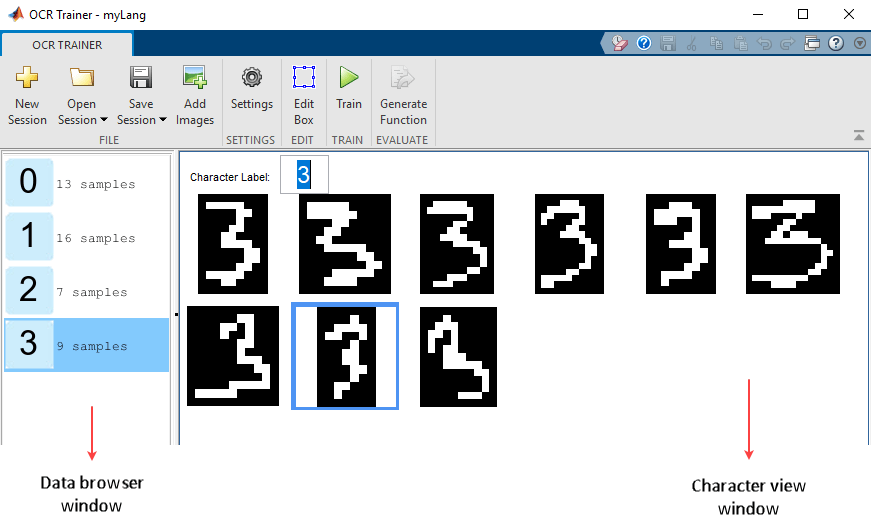 Train Optical Character Recognition for Custom Fonts
