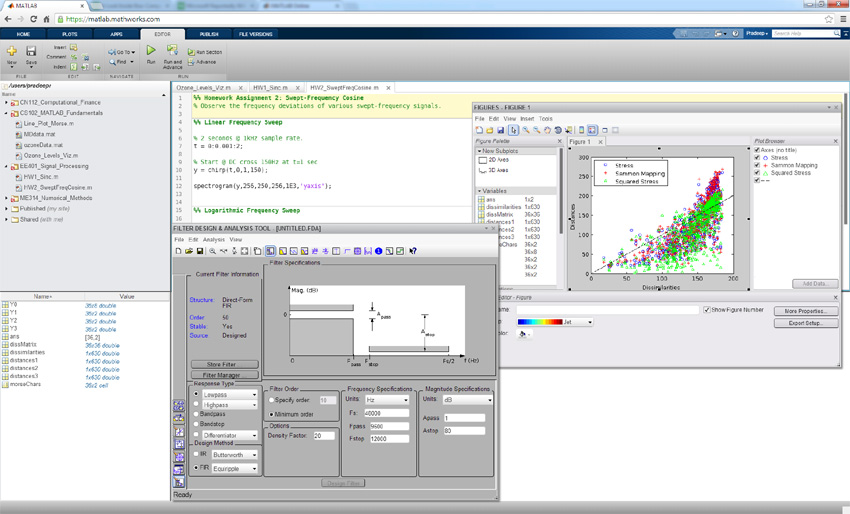 Matlab Online (click to zoom)