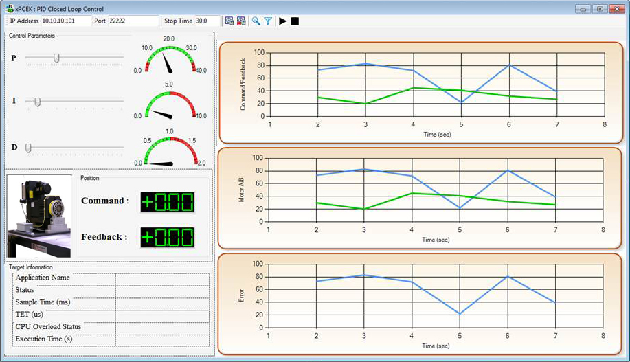 Custom standalone Windows application developed with .NET API in Simulink Real-Time.