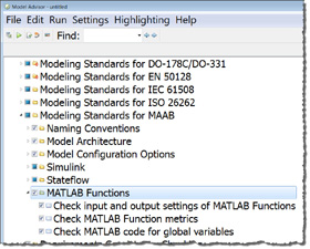 MATLAB Function checks in Simulink Verification and Validation