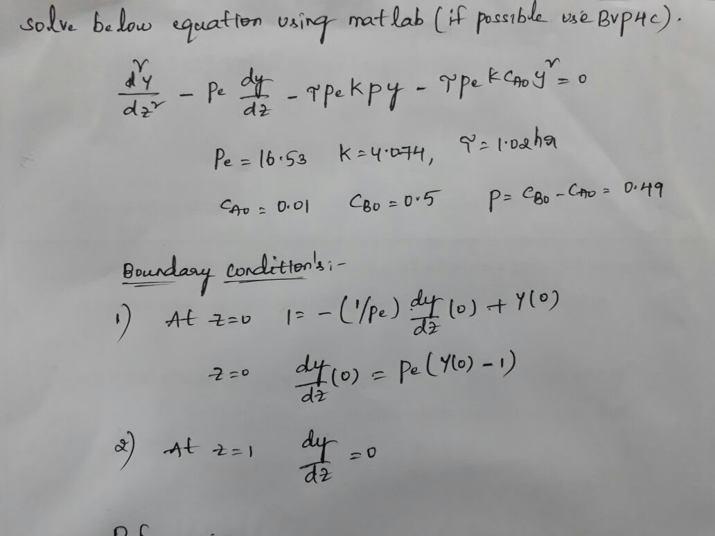 How to solve non linear second order differential equation with