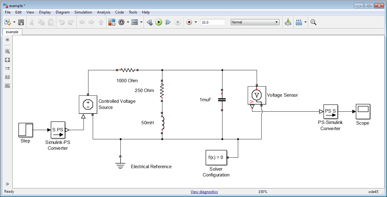 Transfer Function Of A Simple Circuit Using Simulink