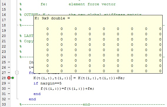 matlab assign matrix size