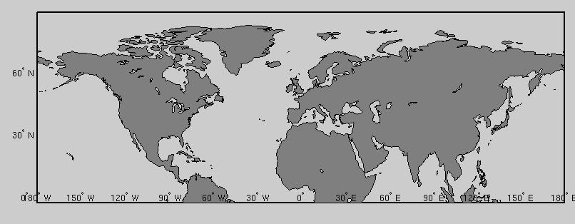 Delate the xlabeltick of the worldmap matlab answers matlab central hworldmap 2 899 180 180 setmhmapprojectiongisoframeongridoff load coast geoshowlatlongdisplaytype polygonfacecolor gumiabroncs Gallery