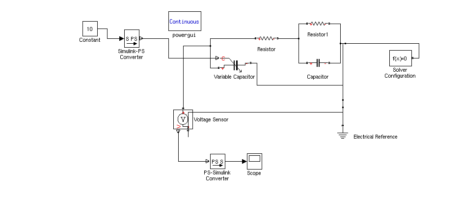 Cant Create A Variable Capacitor In Simulink Matlab