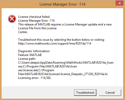What Does This License Manager Error Mean?