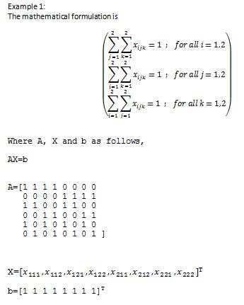 generating binary linear programming matrix matlab answers rh mathworks com MATLAB Neural Network MATLAB Sample Program