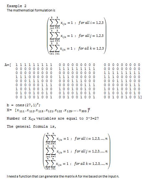 generating binary linear programming matrix matlab answers rh mathworks com MATLAB GUI MATLAB 2D Animation
