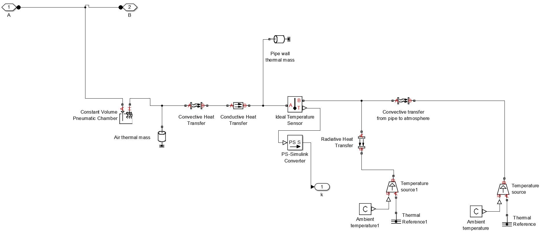 I want to model a gas flow in a pipe with 3 modes of Heat transfer using SIMSCAPE. How do I model the effective heat transfer?  sc 1 st  MathWorks & I want to model a gas flow in a pipe with 3 modes of Heat transfer ...