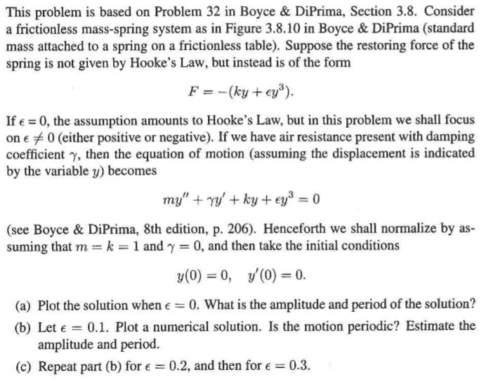 How Can I Solve A 2nd Order Differential Equation For A Mass Spring