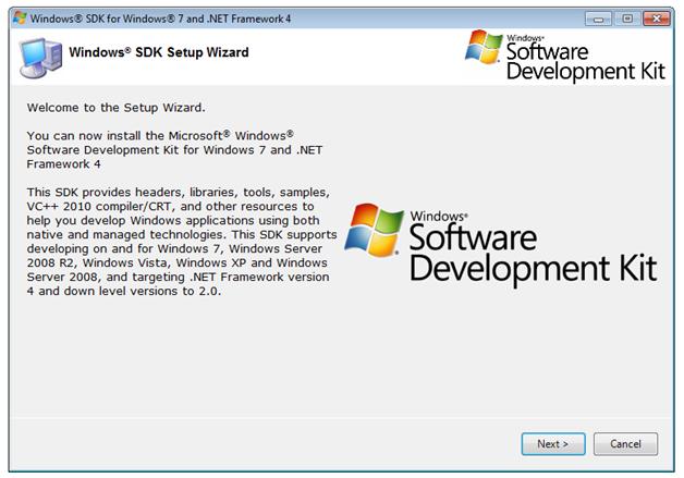 Как установить sdk на windows 7