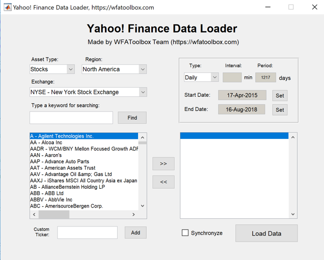Yahoo! Finance Data Loader - File Exchange - MATLAB Central