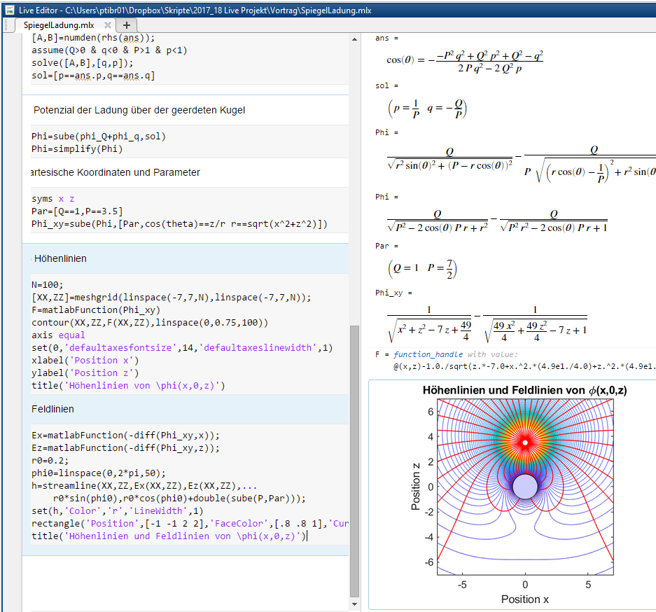Physics Course with Symbolic Math Toolbox and Live Editor - File