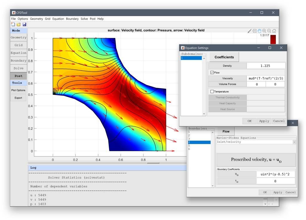 CFDTool - MATLAB CFD Simulation GUI Toolbox
