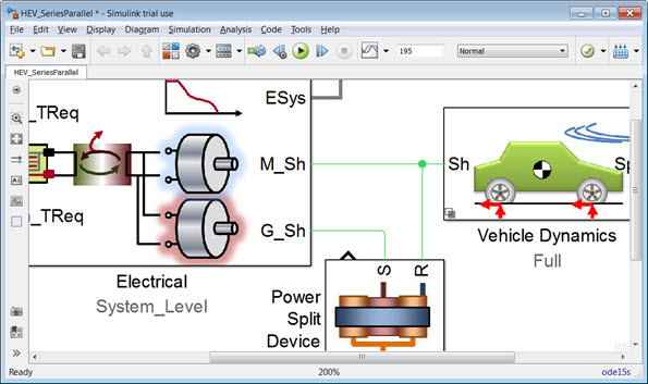 Hybrid-Electric Vehicle Model in Simulink - File Exchange - MATLAB