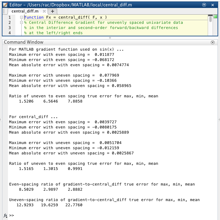 central_diff m - File Exchange - MATLAB Central