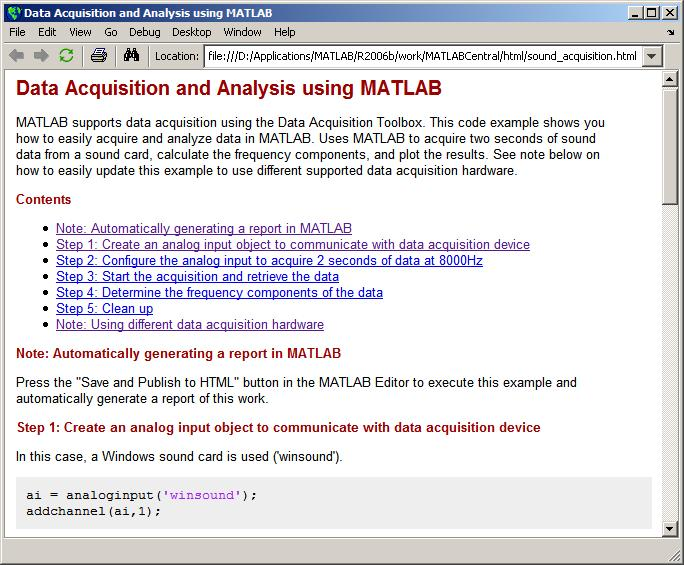 MATLAB sound - code example - File Exchange - MATLAB Central