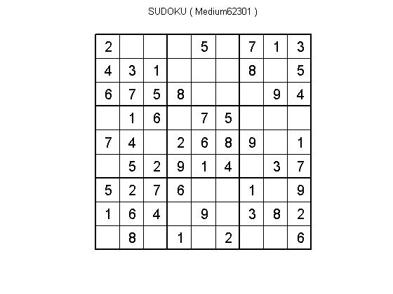 solve and create sudoku puzzles for different levels file exchange