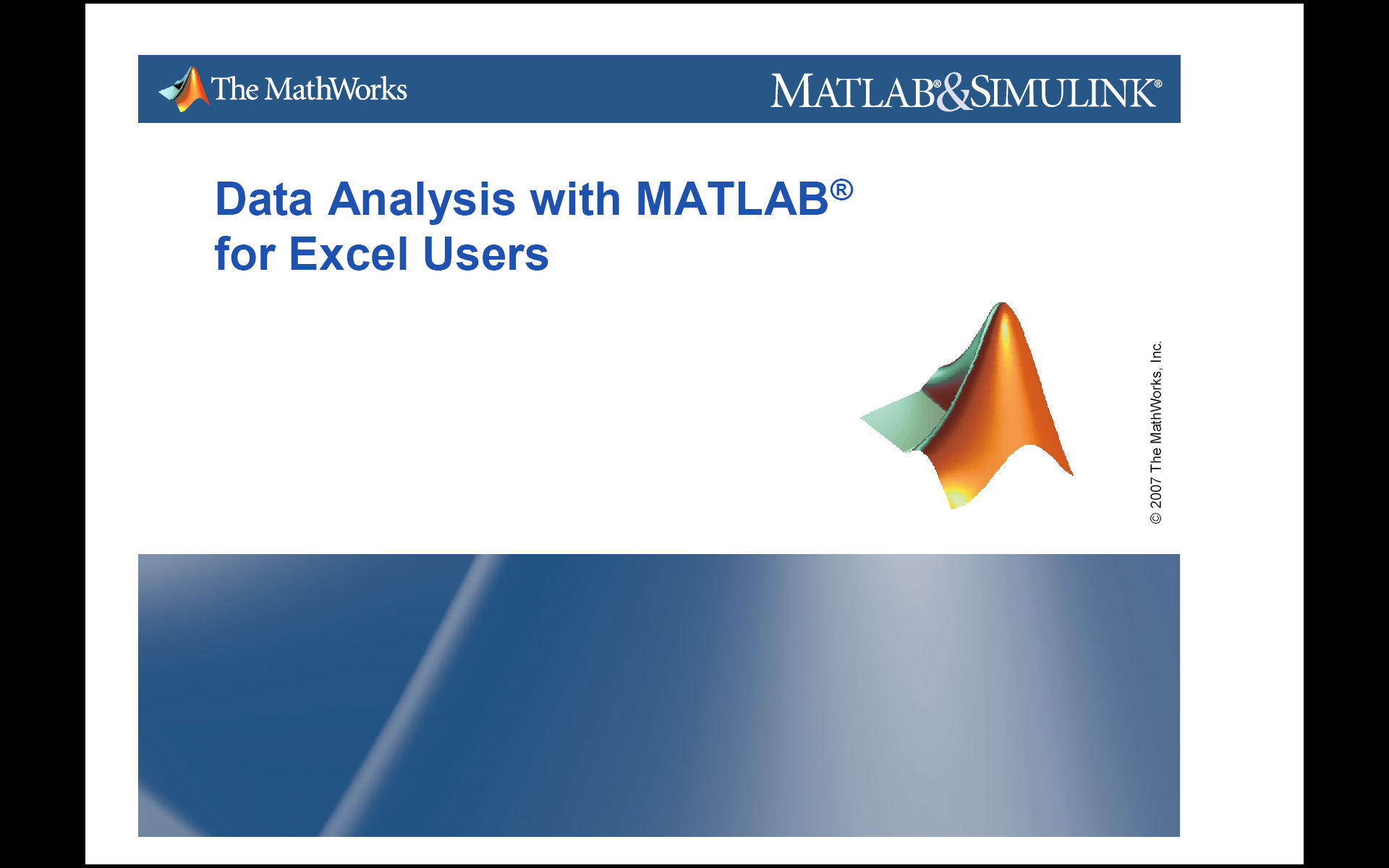 Data Analysis With Matlab For Excel Users File Exchange
