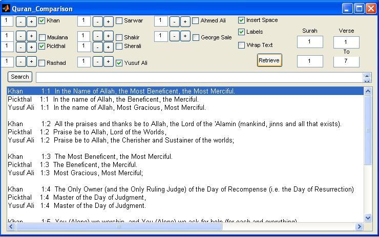 Quran Comparison & Search-requires Matlab - File Exchange - MATLAB