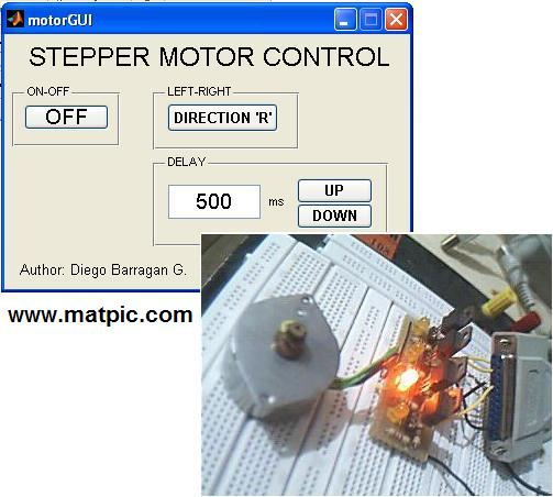 Stepper motor control with gui file exchange matlab for Stepper motor control software