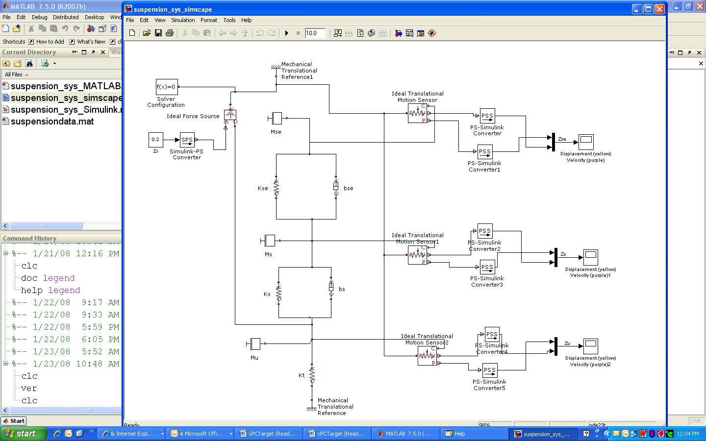 Analysis Of Suspension System Using Matlab Simulink And