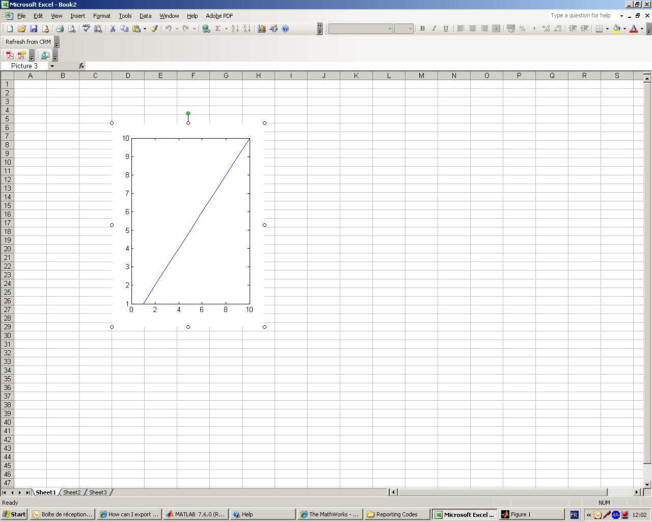how to create an excel file from matlab