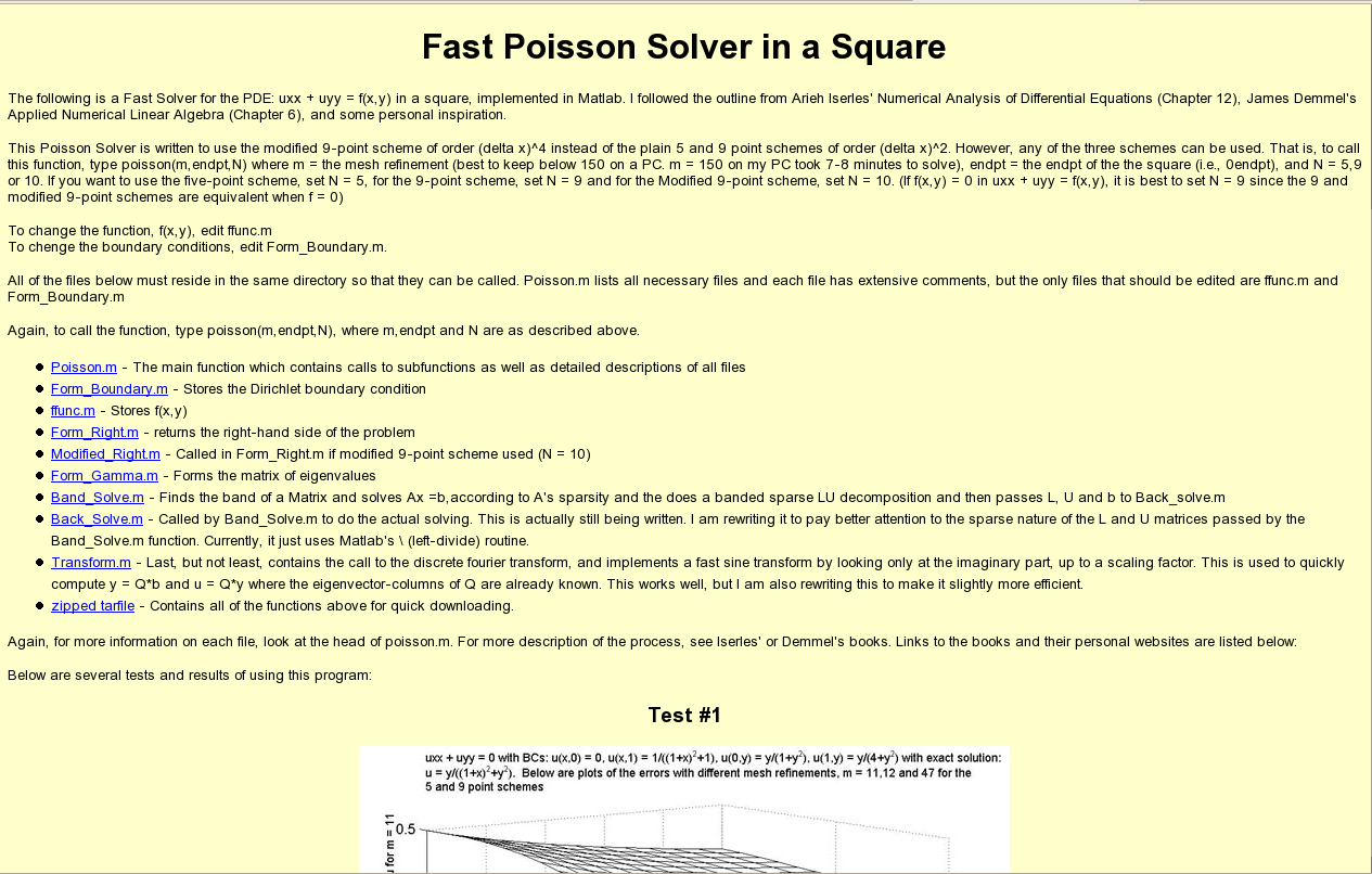 2D Fast Poisson Solver - File Exchange - MATLAB Central