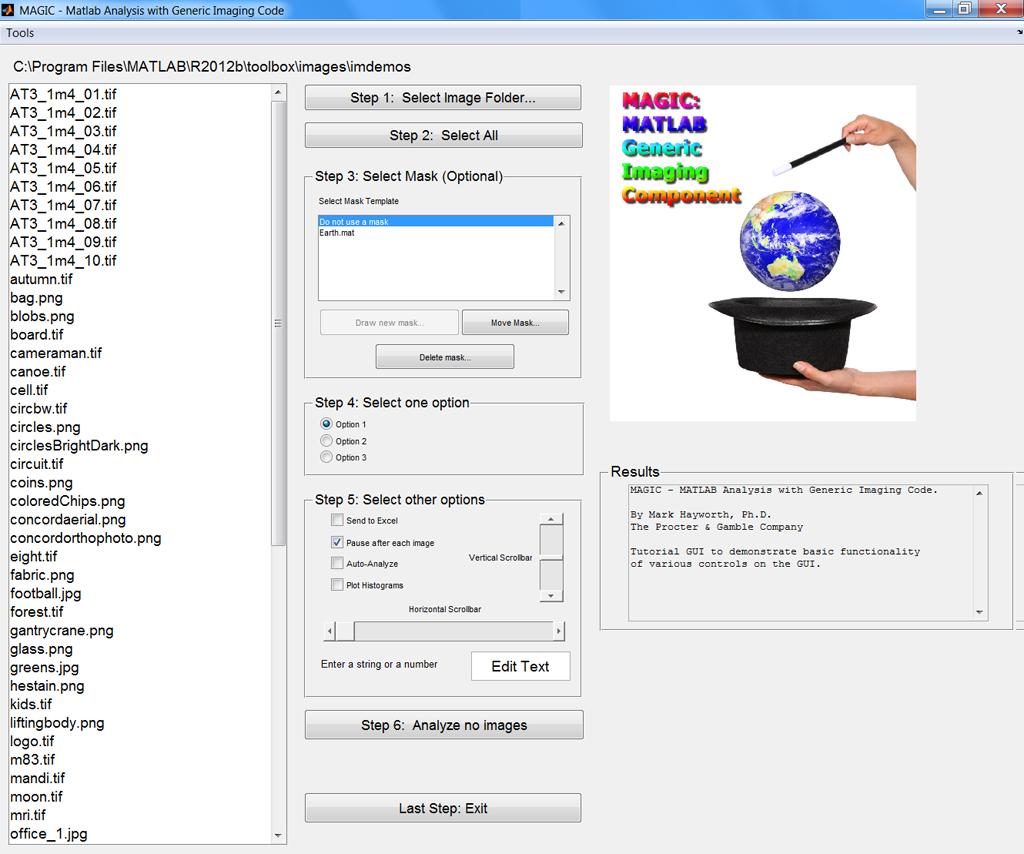 magic - matlab generic imaging component - file exchange - matlab
