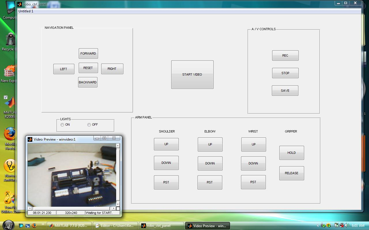 Gui For Controlling Robot File Exchange Matlab Central