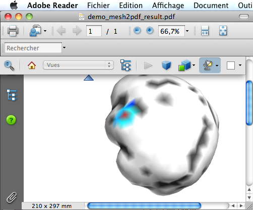 Matlab mesh to PDF with 3D interactive object - File