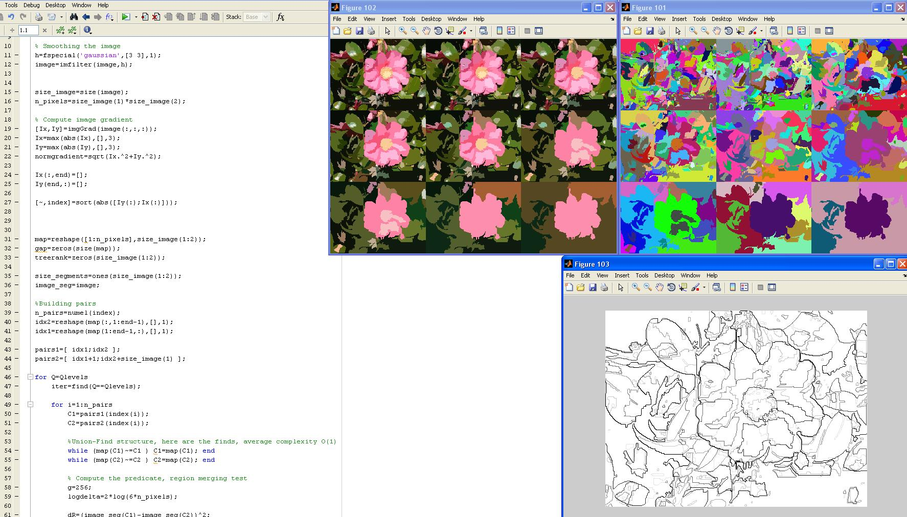 Image segmentation using statistical region merging - File
