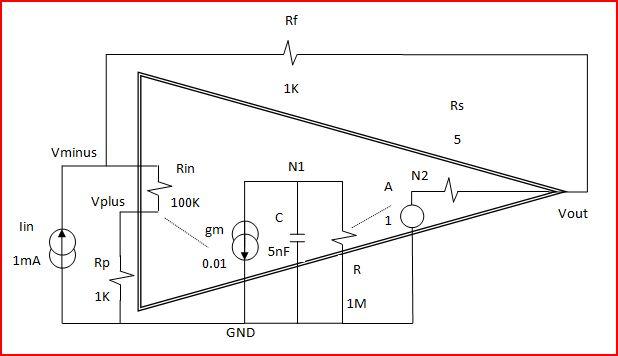 an operational amplifier ammeter
