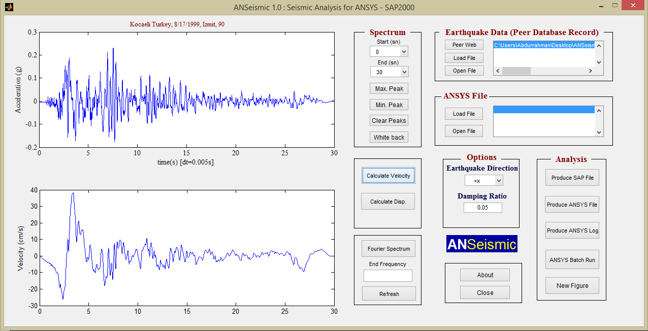 ANSeismic – Seismic Analysis of Structures with ANSYS and SAP2000