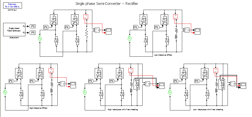 single phase full controlled bridge rectifier