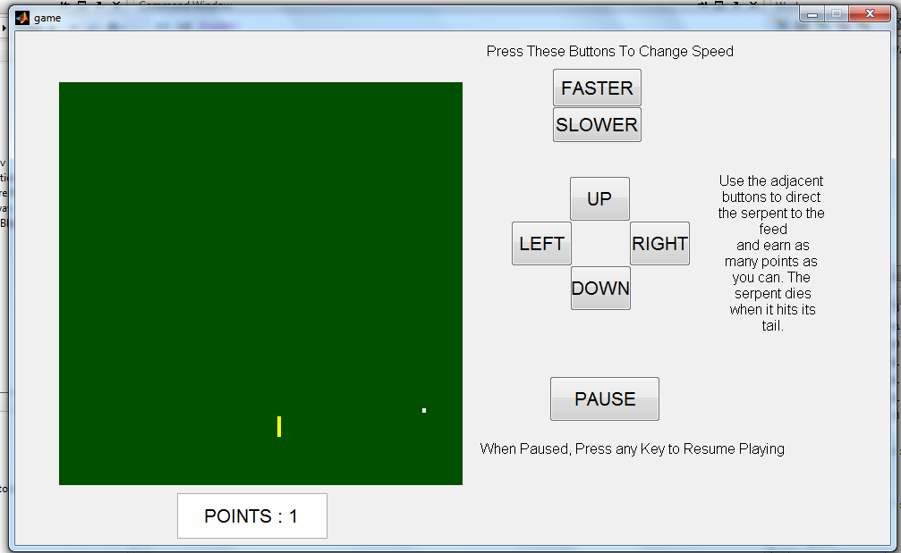 Classic Snake Game in MATLAB GUI - File Exchange - MATLAB