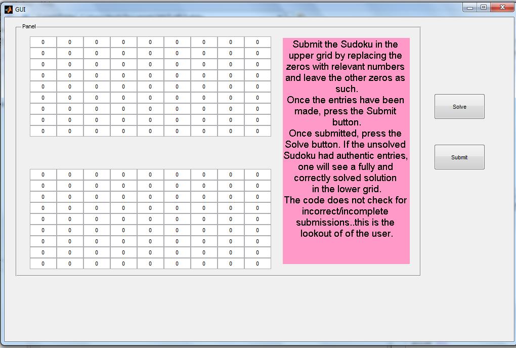 MATLAB based GUI For Solving Sudoku - File Exchange - MATLAB