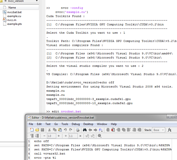 NVCC cuda compiler wraper - File Exchange - MATLAB Central