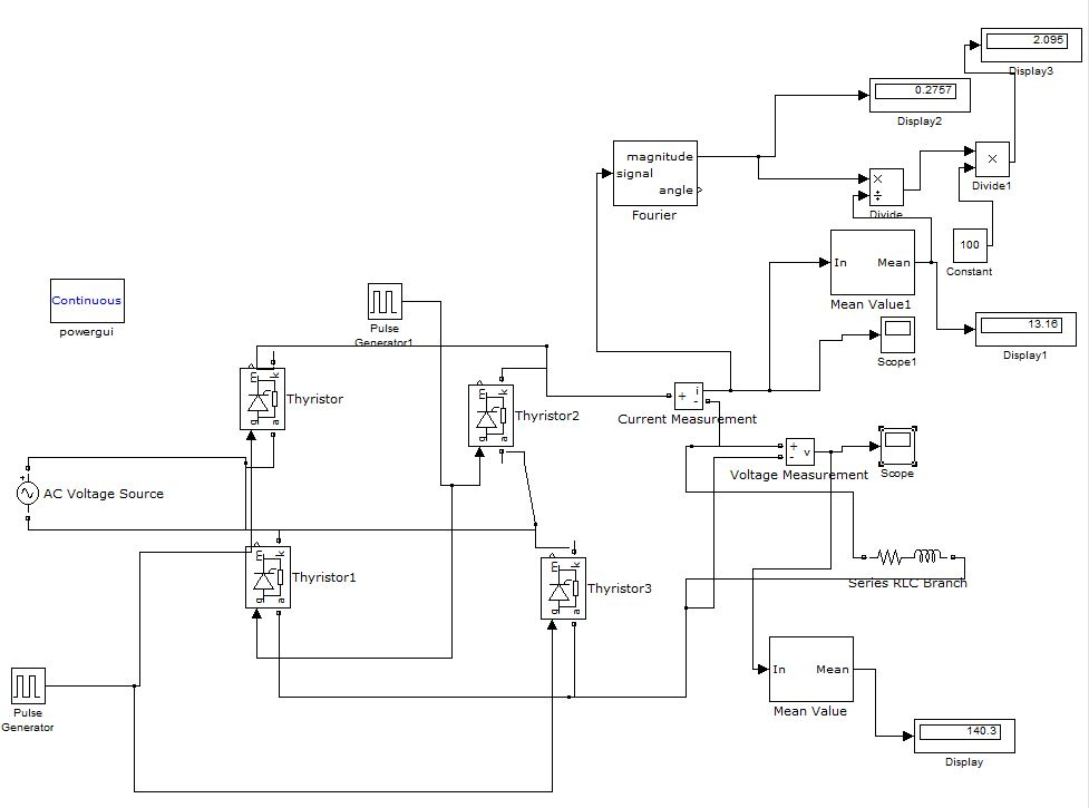 Simulink Model For 1phase Controlled Scr Harmonic Elimination