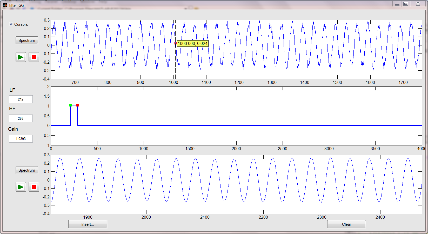 Dynamic Low High And Band Pass Filter File Exchange Matlab Central Voice Bandwidth