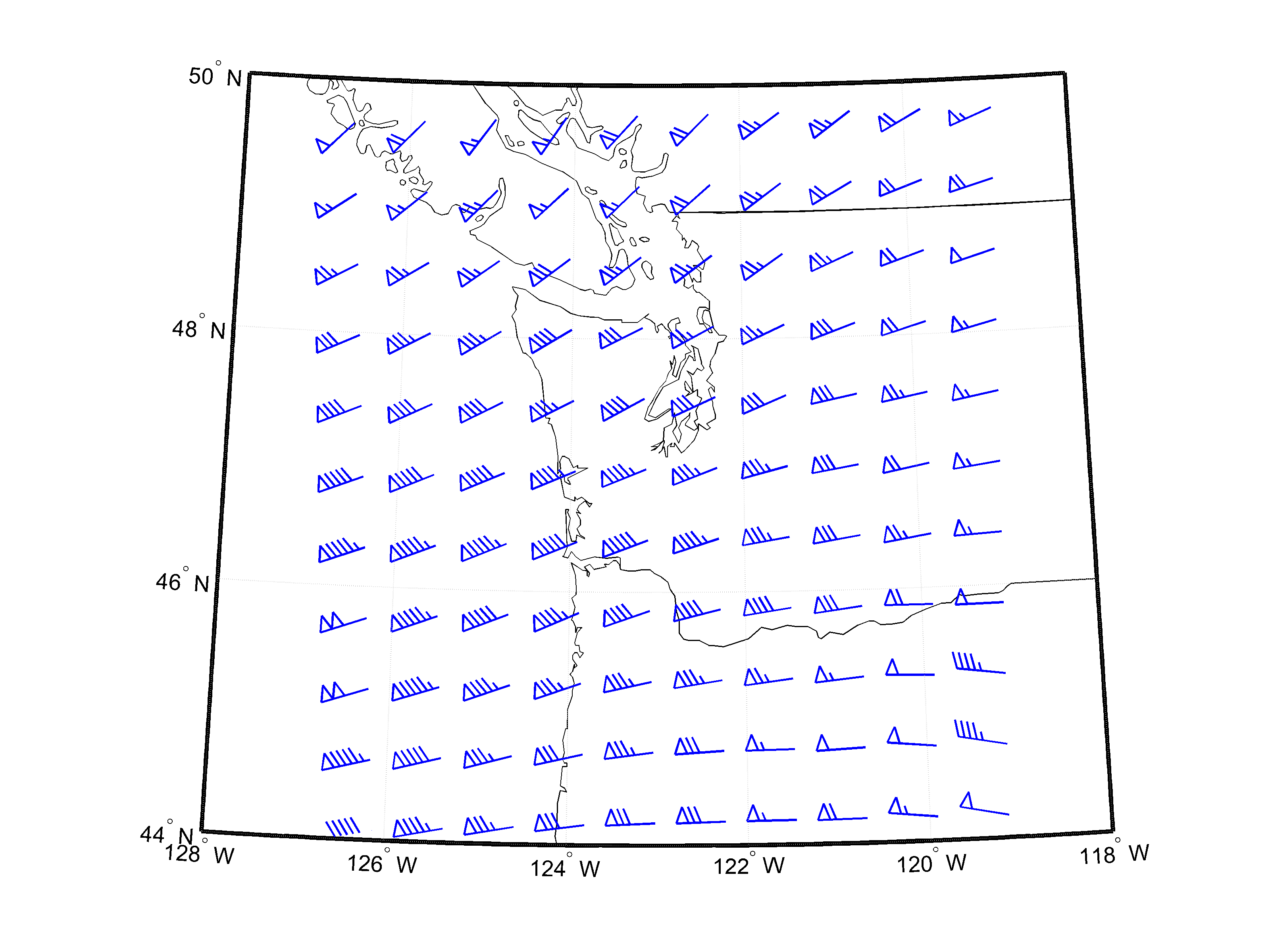 Wind Barb Plotter File Exchange Matlab Central
