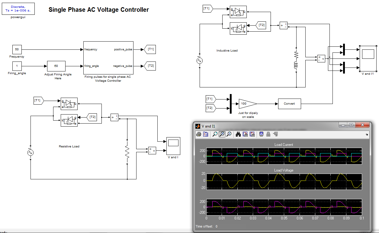Single phase ac voltage controller file exchange for Single phase ac motor control